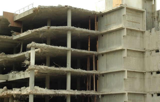 Demolizione edifico - BIM e droni