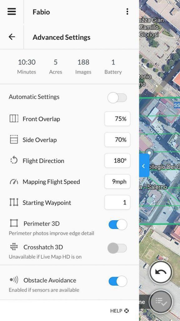 Dronedeploy App Advaced Menu