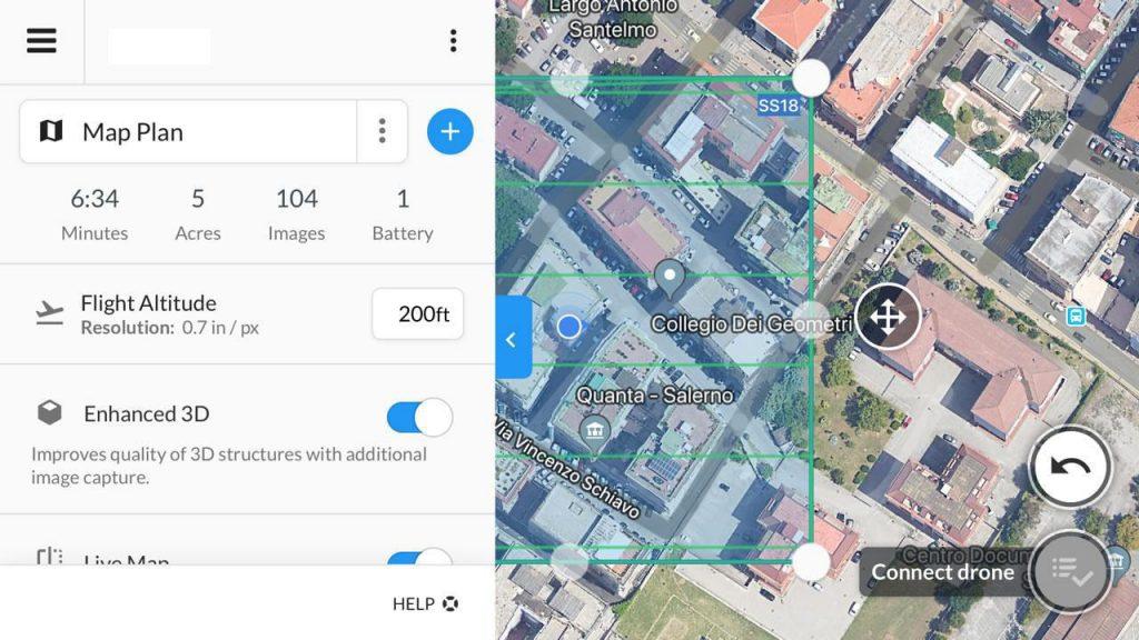 Dronedeploy App Menu Principale