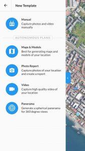 Dronedeploy Menu Accesso App
